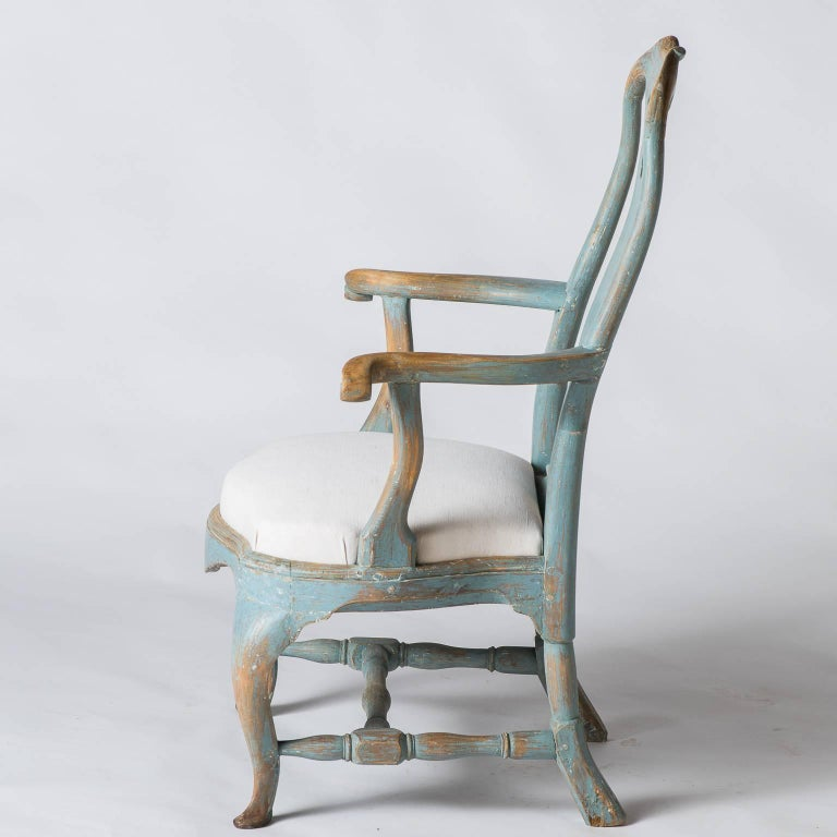 Pair of Swedish Rococo Period Armchairs, circa 1770 For Sale 5