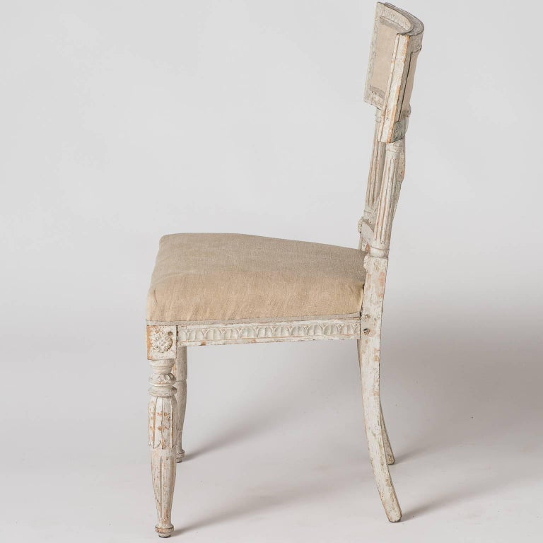 """Pair of Swedish """"Bellman"""" Side Chairs, circa 1800 For Sale 4"""