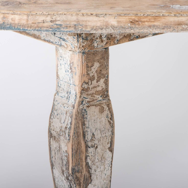 Pair of Late 18th Century Italian Demilune Tables For Sale 6