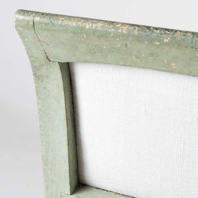 Pair of Swedish Gustavian Period Side Chairs in Old Green Paint, circa 1800 For Sale 6