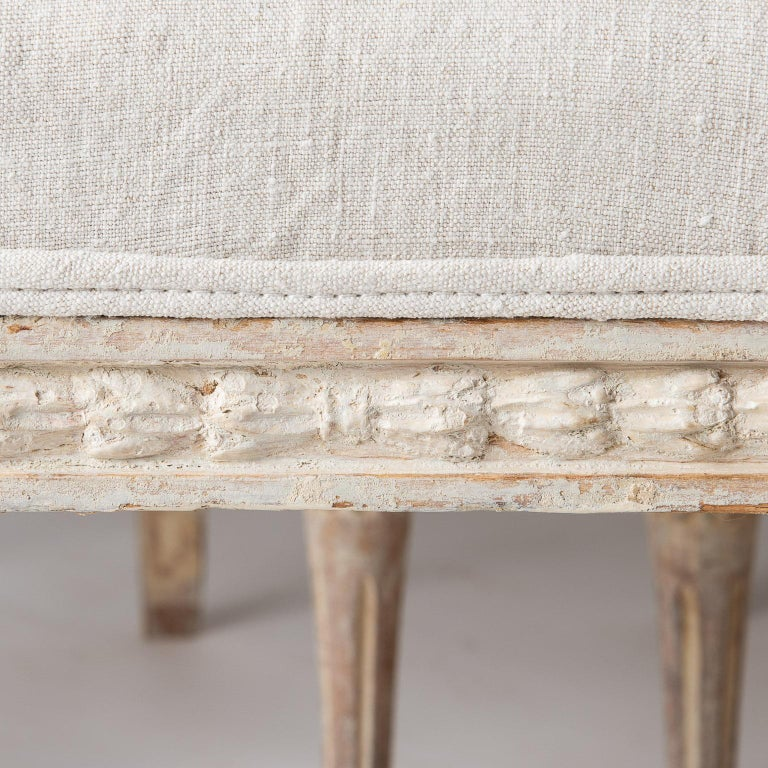 19th Century An Assembled Set of Six Swedish Late Gustavian Stockholm Dining Chairs For Sale