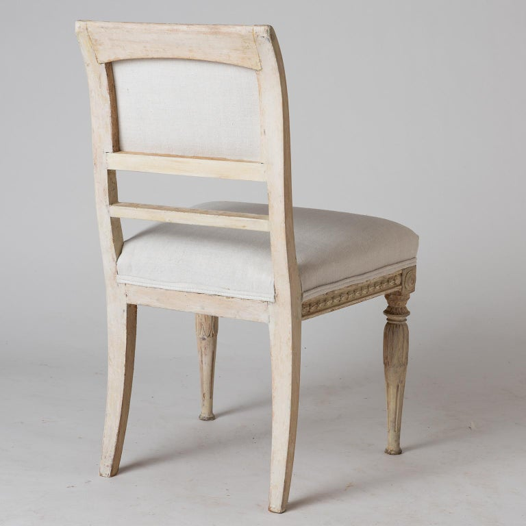 An Assembled Set of Six Swedish Late Gustavian Stockholm Dining Chairs For Sale 5