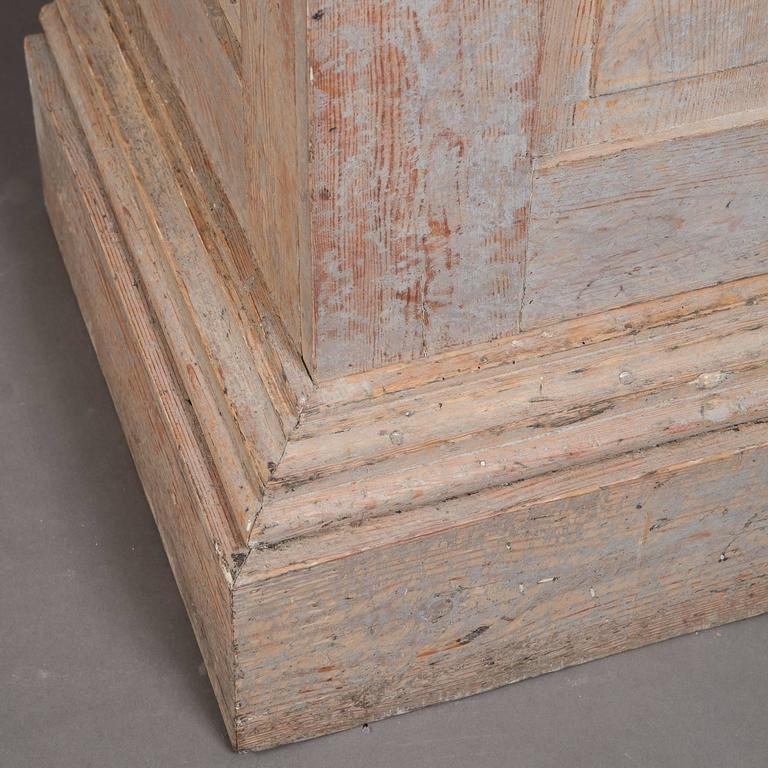 Wood Swedish Late Gustavian Column Cabinet, circa 1800 For Sale
