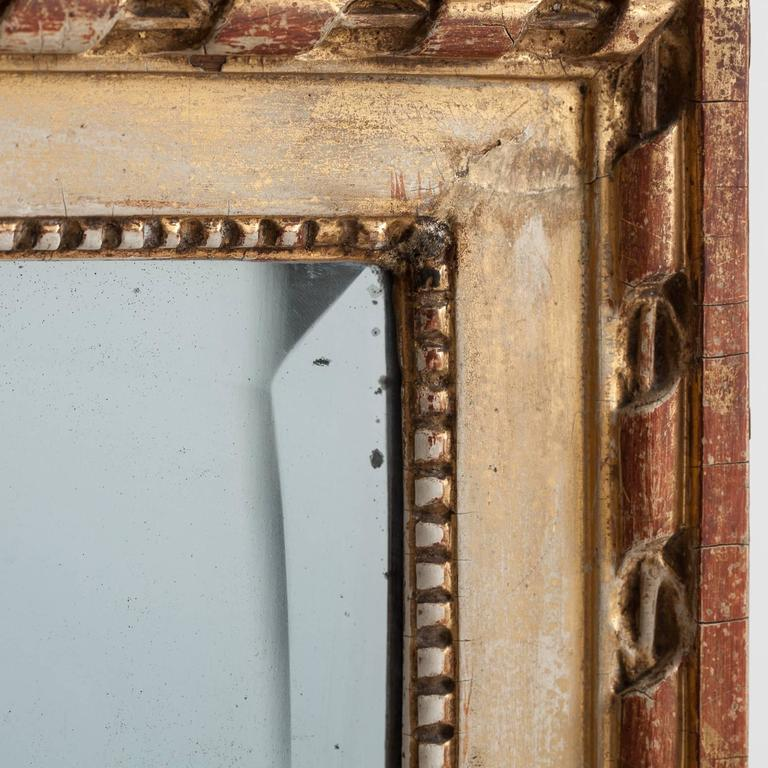 Swedish Gustavian Period Signed Stockholm Mirror, circa 1780 For Sale 1