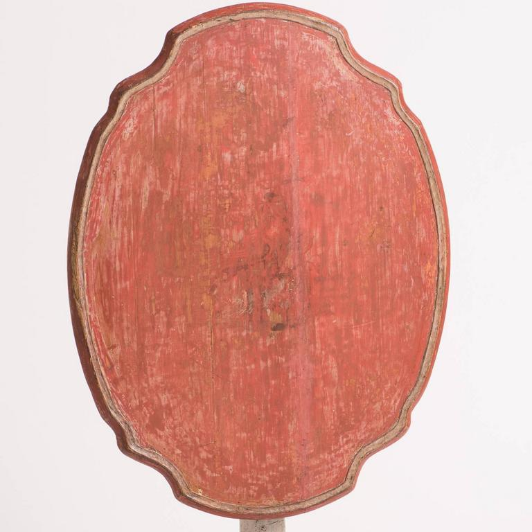 Mid-18th Century Swedish, Rococo Period Coral Flip-Top Table, circa 1760 For Sale