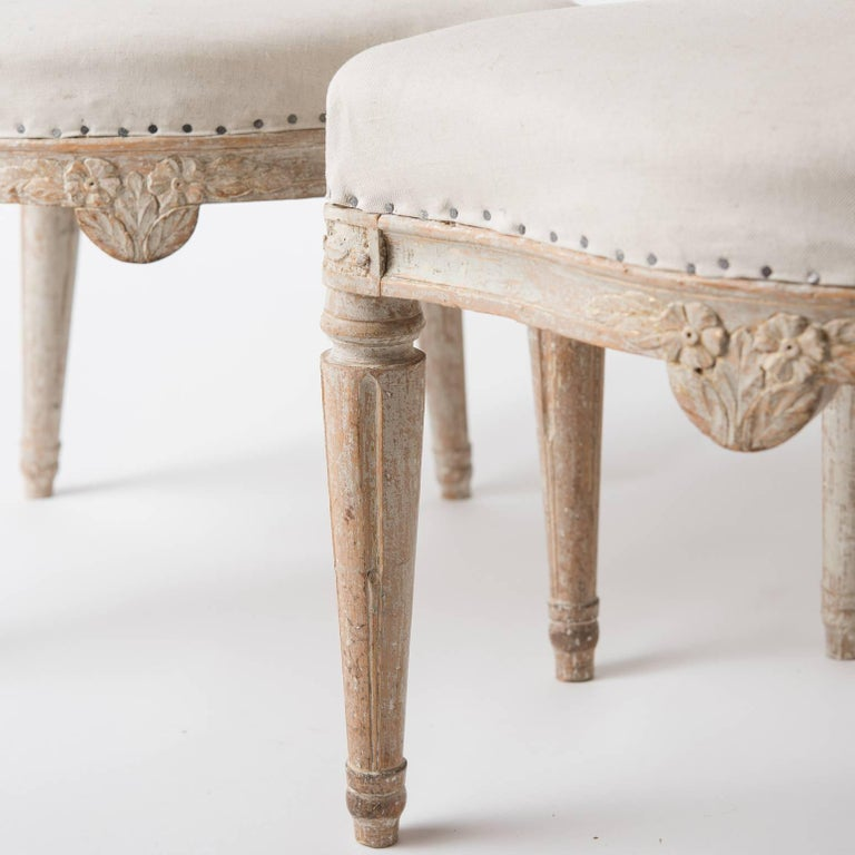 Pair of Gustavian Period Signed Stockholm Side Chairs, circa 1780 In Excellent Condition For Sale In New Preston, CT