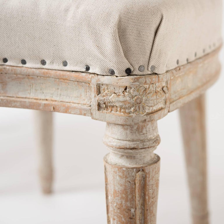 Late 18th Century Pair of Gustavian Period Signed Stockholm Side Chairs, circa 1780 For Sale