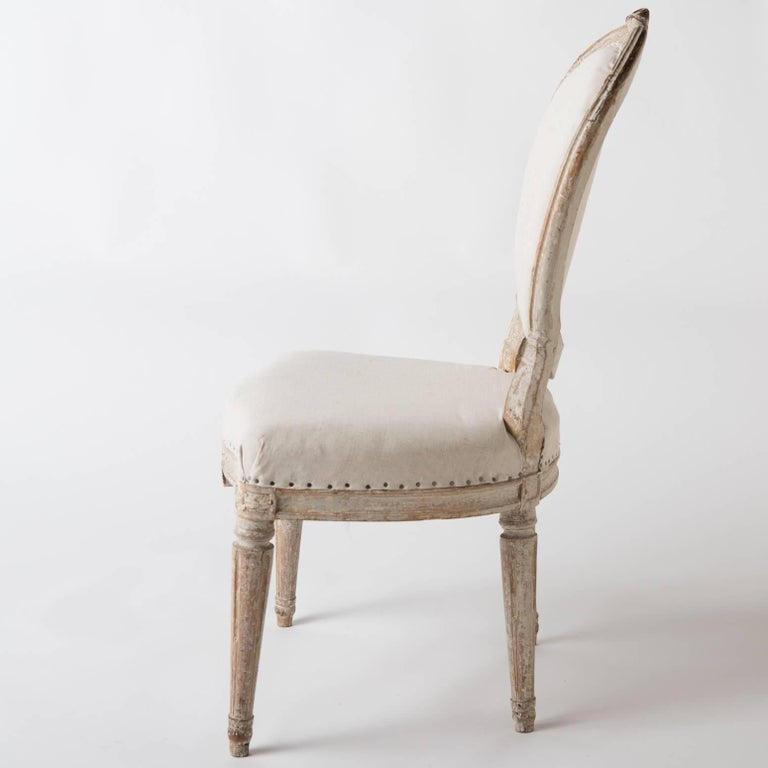 Wood Pair of Gustavian Period Signed Stockholm Side Chairs, circa 1780 For Sale