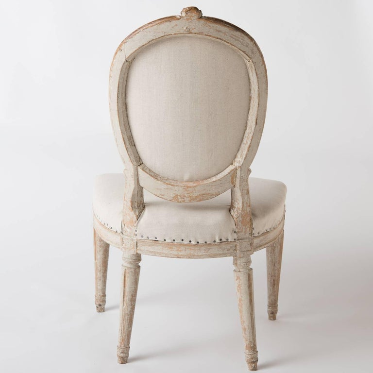 Pair of Gustavian Period Signed Stockholm Side Chairs, circa 1780 For Sale 1