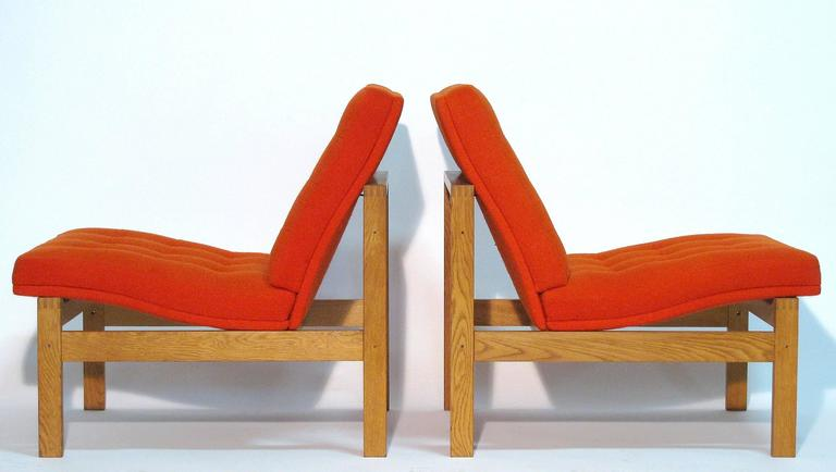 Pair of Easy Chairs by Ole Gjerløv-Knudsen and Torben Lind for France and Son 5