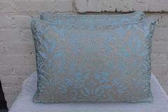 Pair of Aquamarine Fortuny Pillows