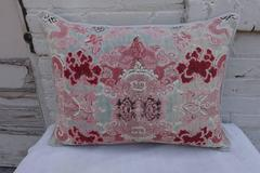Vintage Chinoiserie Printed Linen Pillows, Pair