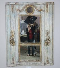 19th C. French Painted Louis XVI Style Trumeau
