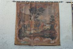 19th Century Italian Hand Painted Hanging w/ Hardware