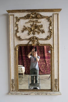French Painted and Parcel-Gilt Mirror, circa 1930
