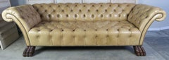 Custom Chesterfield Tufted Leather Sofa by Melissa Levinson