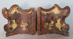 19th C. Italian Painted & Parcel Gilt Architectural Fragments