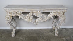 French Painted Louis XV Style Console