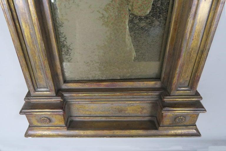 Mercury Glass 19th Century Italian Neoclassical Style Giltwood Mirror For Sale