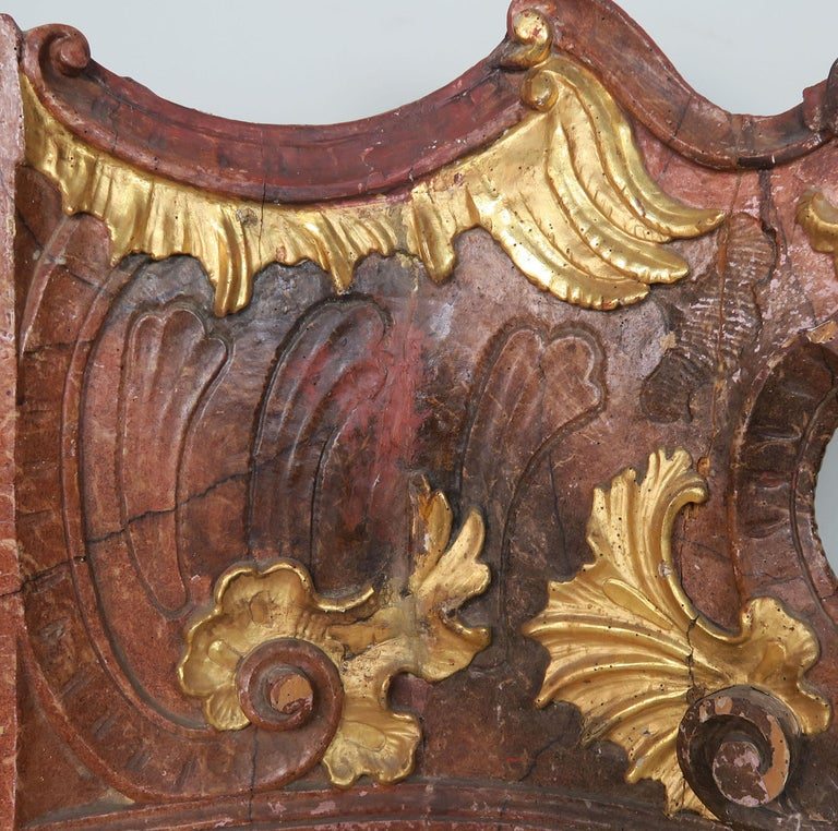 Gold Leaf 19th Century Italian Painted and Parcel-Gilt Architectural Fragments For Sale