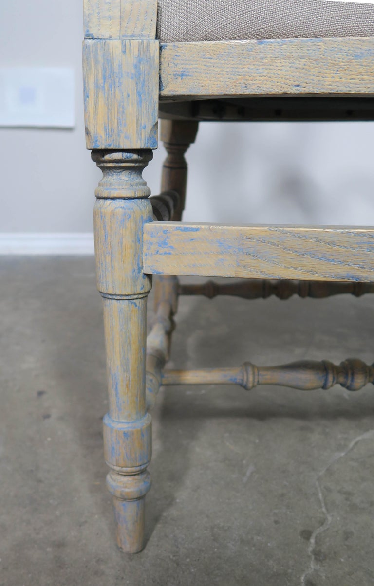 French Country Ladder Back Painted Dining Chairs, Set of 8 For Sale 2