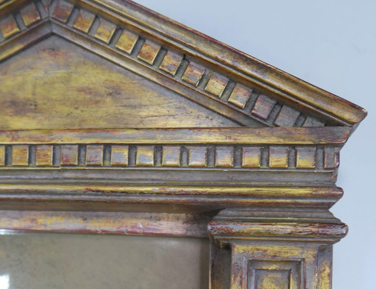 19th Century Italian Neoclassical Style Giltwood Mirror For Sale 2