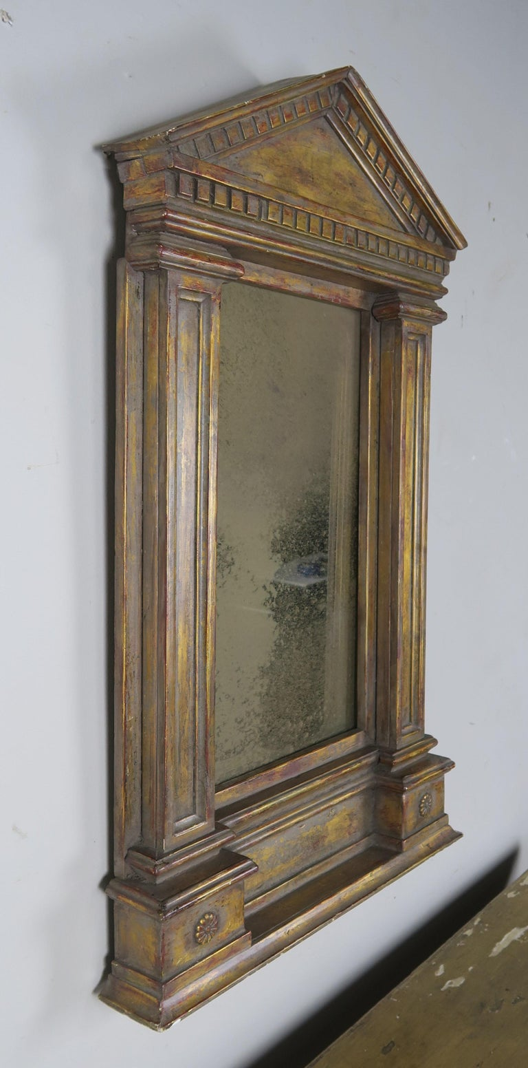19th Century Italian Neoclassical Style Giltwood Mirror For Sale 4