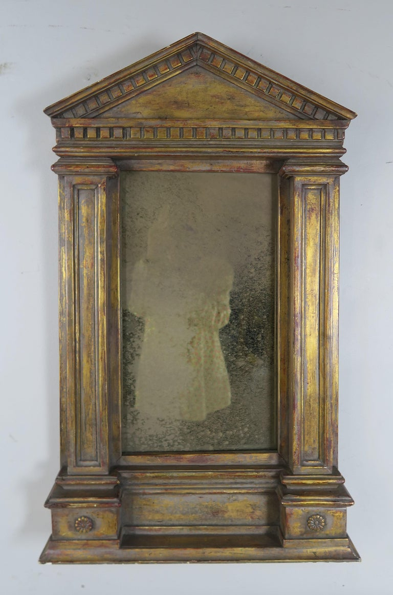 19th Century Italian Neoclassical Style Giltwood Mirror For Sale 8