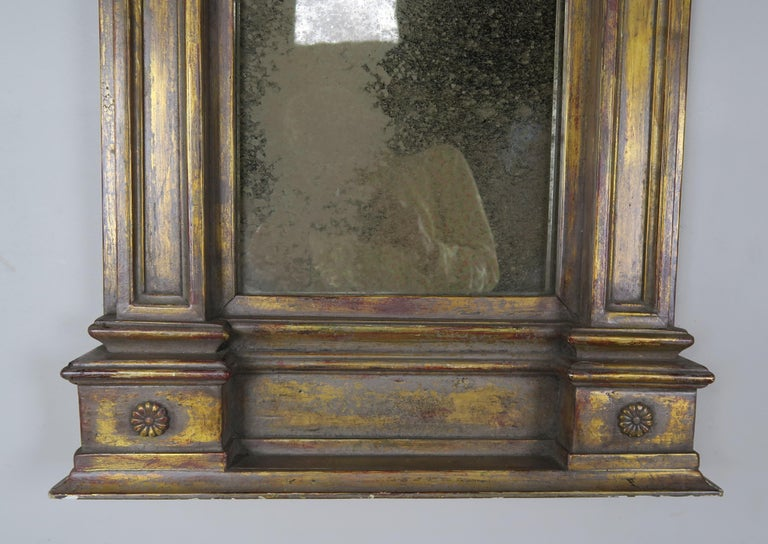 19th Century Italian Neoclassical Style Giltwood Mirror For Sale 6