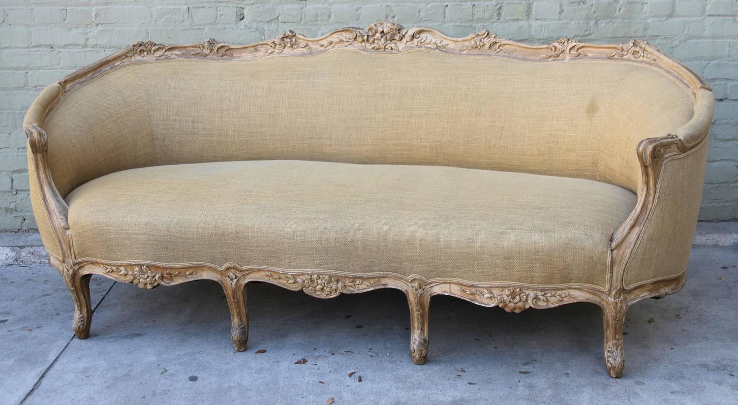 French Carved Louis Xv Style Sofa At 1stdibs