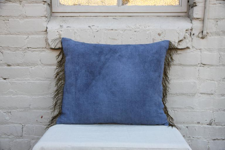 French 19th Century Royal Crest Linen Pillow For Sale