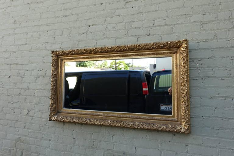 19th Century Italian Carved Giltwood Mirror For Sale 2
