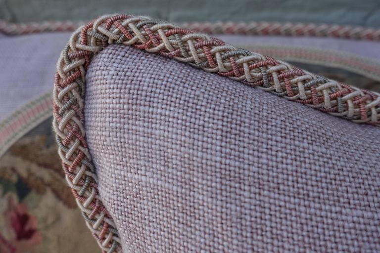 Pair of Pillows with 19th Century Aubusson Textiles For Sale 1
