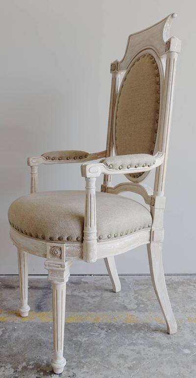 Painted Set of Eight Italian Neoclassical Style Dining Chairs For Sale