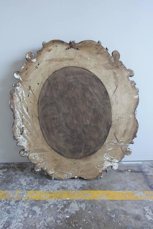 Italian Rococo Style Carved Wood Mirror, circa 1930s For Sale 2
