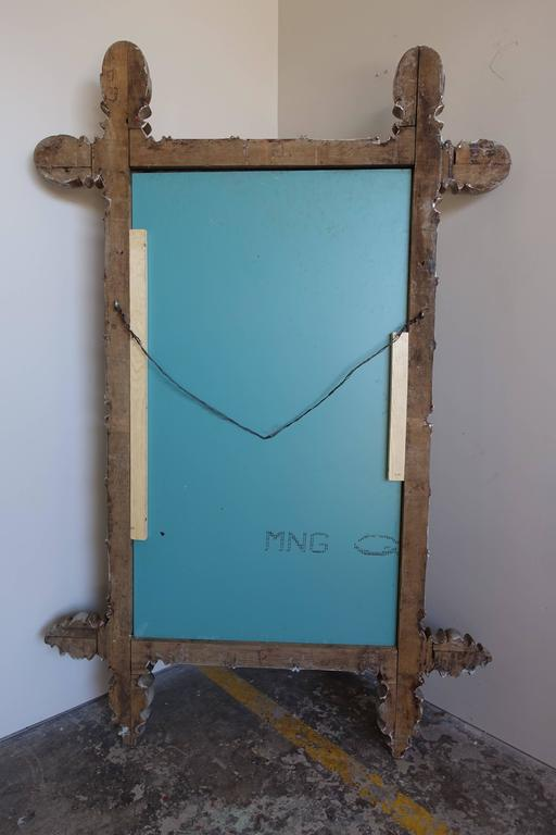 Pair of Chinoiserie Painted Bamboo Style Mirrors For Sale 4
