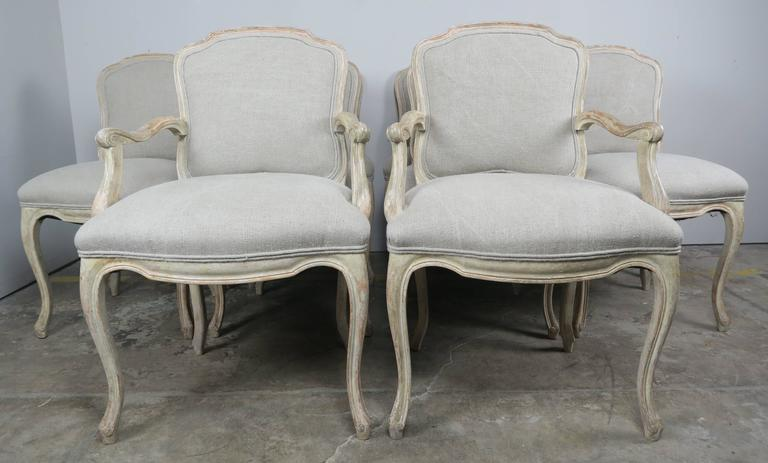 Set of Ten French Louis XV Style Dining Chairs 2