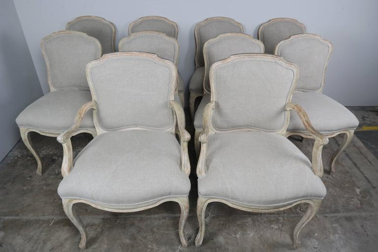 Set of Ten French Louis XV Style Dining Chairs 3