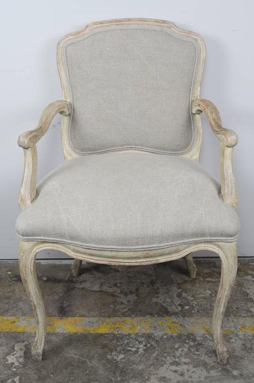 Set of Ten French Louis XV Style Dining Chairs 4