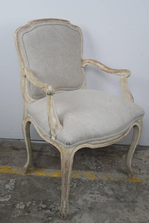 Set of Ten French Louis XV Style Dining Chairs 5