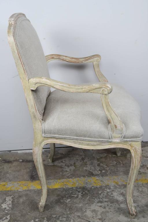Set of Ten French Louis XV Style Dining Chairs 6