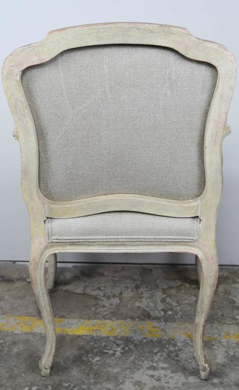 Set of Ten French Louis XV Style Dining Chairs 7