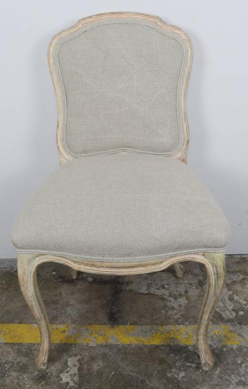 Set of Ten French Louis XV Style Dining Chairs 8