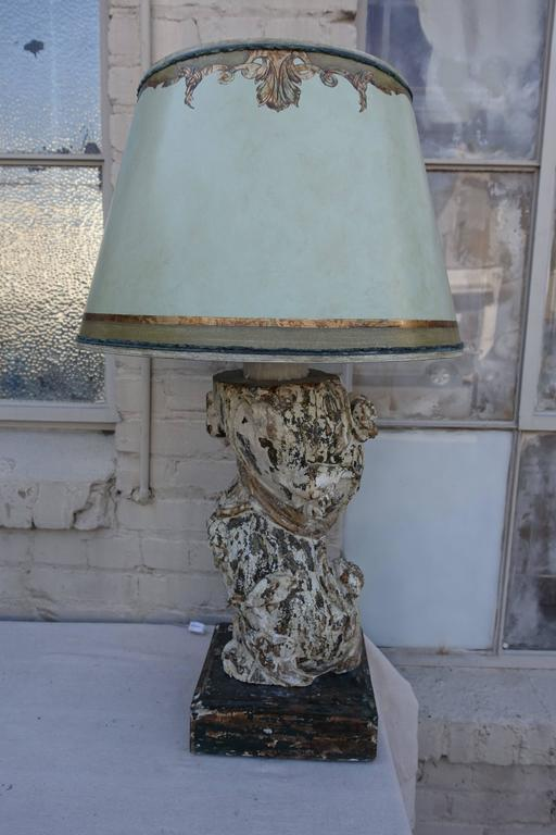 Pair of 19th Century Italian Column Lamps with Shades 2