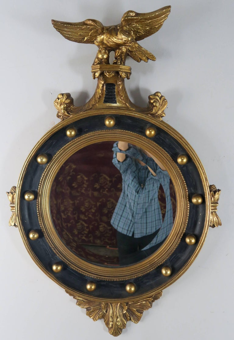 American Federal Style Painted And Parcel Gilt Mirror With