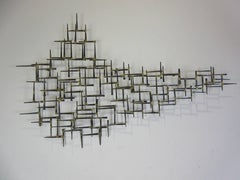 William Bowie Nail Wall Sculpture
