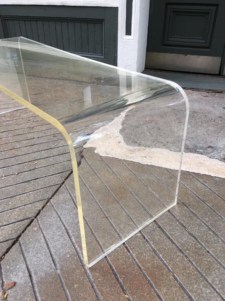 Lucite Bench or Coffee Table in the Style of Charles Hollis Jones For Sale 2