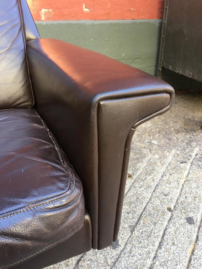 Scandinavian Modern Georg Thams for Vejen Polstermobelfabrik Danish Leather Sofa For Sale
