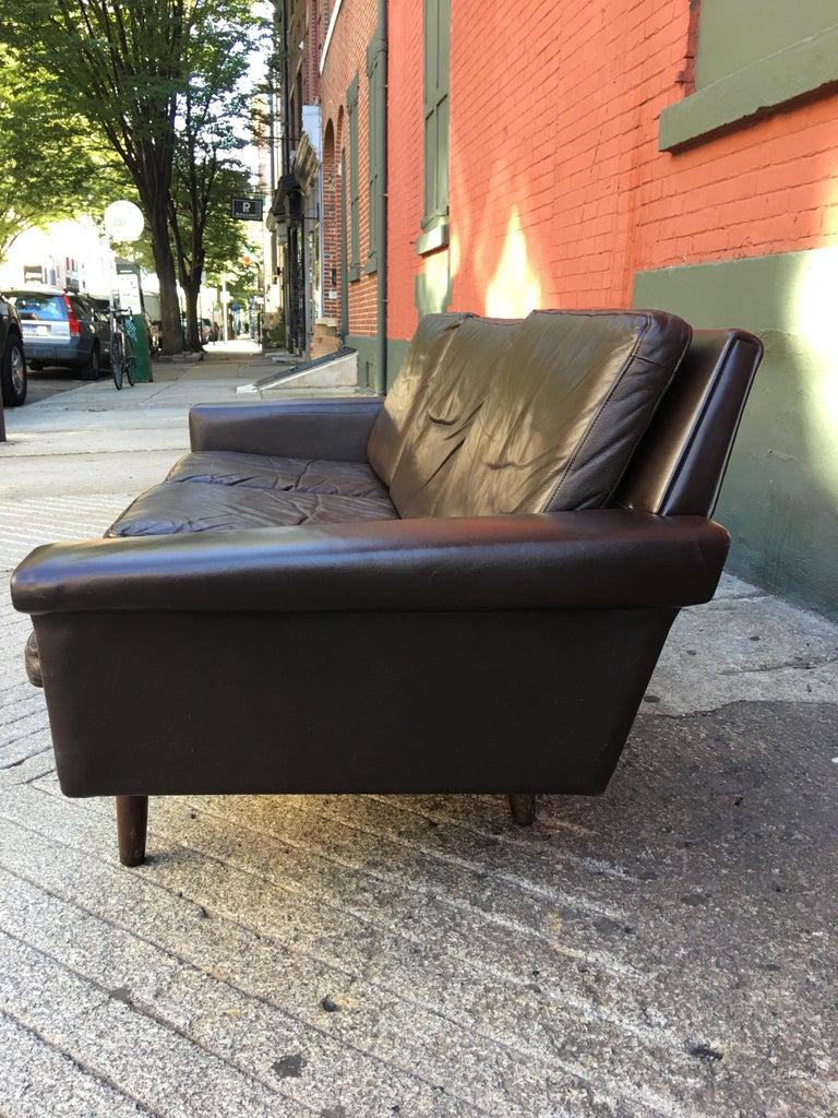 Georg Thams for Vejen Polstermobelfabrik Danish Leather Sofa For Sale 2
