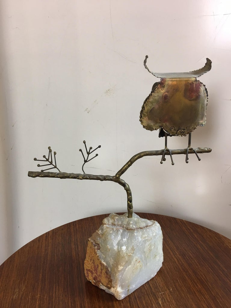 Mid-Century Modern Curtis Jere Owl, 1969 For Sale
